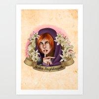 Sister Madona Lily Art Print