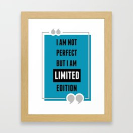 life quote Framed Art Print