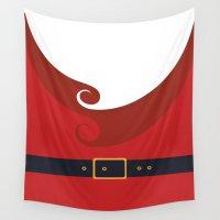 santa Wall Tapestries featuring Santa by Sara Eshak