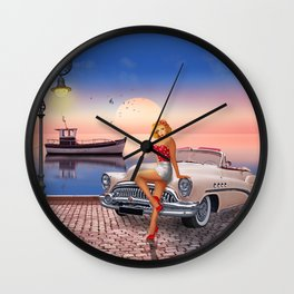 Waiting for the sweetheart Wall Clock