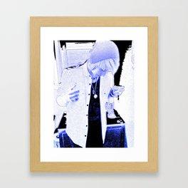 Bottled Up Blues Framed Art Print