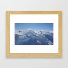 Sunlit ice Framed Art Print