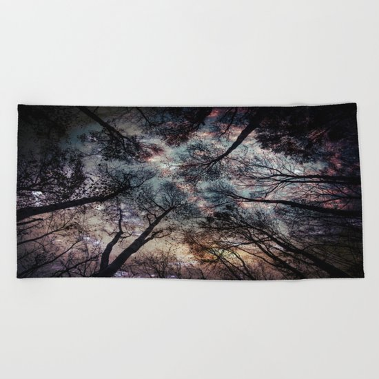 Starry Sky in the Forest Beach Towel