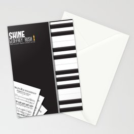 Shine, Geoffrey Rush, David Helfgott, Scott Hicks, alternative movie poster, minimalist film, affich Stationery Cards