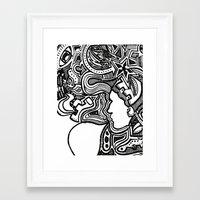techno Framed Art Prints featuring Techno by Madison R. Leavelle