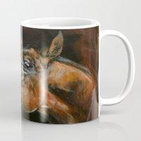 arab Mugs featuring arab horses face by Ironia Art