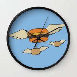 Bob's Burgers Flying Hamburger picture Wall Clock