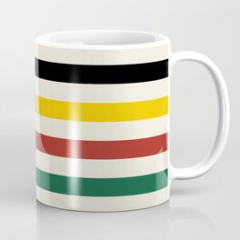 Rustic Lodge Stripes Black Yellow Red Green Coffee Mug