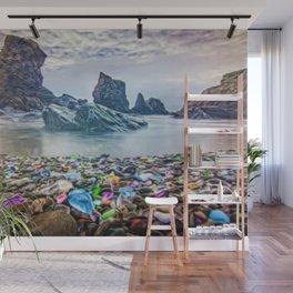 MacKerricher Bottle Sea Glass Beach, California Portrait Wall Mural