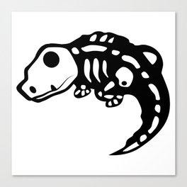 Lizard skeleton Canvas Print