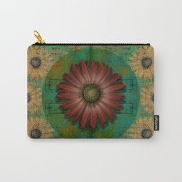 """Daisy Woman (Red Daisy, pattern)"" Carry-All Pouch"