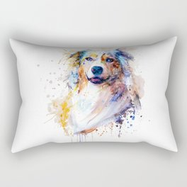 Australian Shepherd Portrait Rectangular Pillow