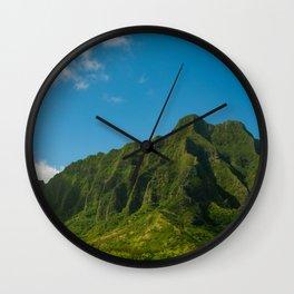 Kualoa Mountains Oahu Hawaii Wall Clock
