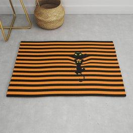 Halloween cati in the stripes Rug