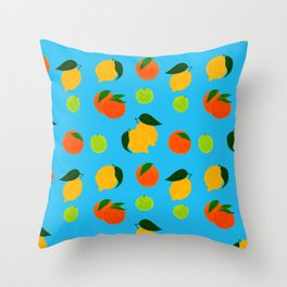 Happy citrus pattern Throw Pillow