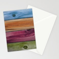 Wooden Rainbow Stationery Cards
