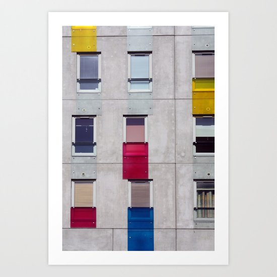 eastern european apartments in colour Art Print