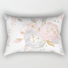 Roses Gold Glitter Pink by Nature Magick Rectangular Pillow