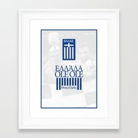greece Framed Art Prints featuring Greece by liamhohoho