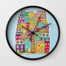 Way Downtown Wall Clock