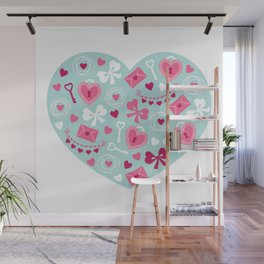 Valentines Day Heart #6 - Key to My Heart Wall Mural