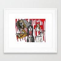 kill bill Framed Art Prints featuring Kill Bill by mothermary