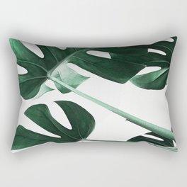 Monstera, Leaves, Plant, Green, Scandinavian, Minimal, Modern, Wall art Rectangular Pillow