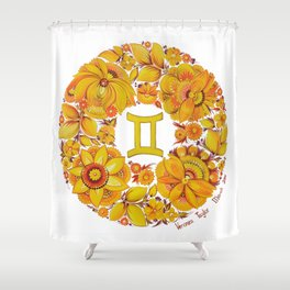 Gemini in Petrykivka style (with signature) Shower Curtain