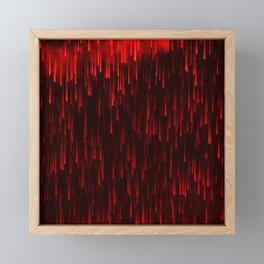 Raining Red Framed Mini Art Print