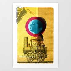 A childhood journey between reality and imagination... Art Print
