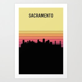Sacramento Skyline Art Print