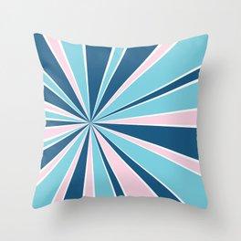Starburst Pink and Blue Throw Pillow