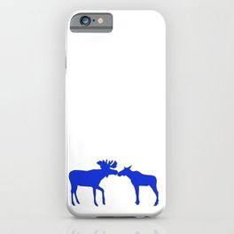 Graphic Swedish Moose Kissing iPhone Case