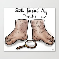 Still Finding My Feet Canvas Print