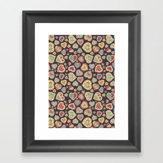 I Heart Doodling Framed Art Print