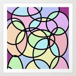 circle of life geometric print design Art Print