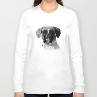 boxer Long Sleeve T-shirts featuring Boxer by Nuria Galceran