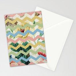 VINTAGE CHEVRON PATTERN Stationery Cards