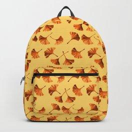 Orange Ginkgo Backpack