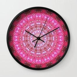 Star Cluster Mandala Wall Clock