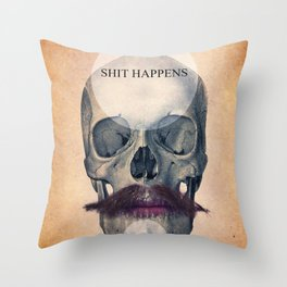 Rock the World / (Skull Collection) Throw Pillow