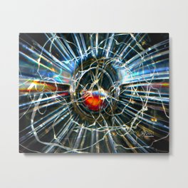 Corinne's Magic, Glass and Light Scanography Metal Print