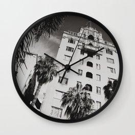 Art District Walk Shot Wall Clock