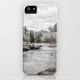 Wintry River iPhone Case