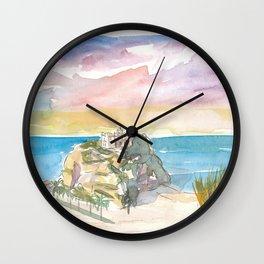 Tropea Italy Calabria Rock And Beach Wall Clock