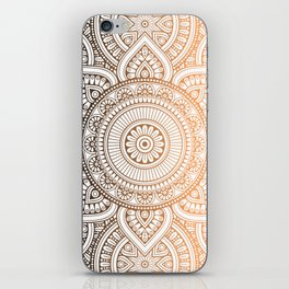 Gold Bronze Mandala Pattern Illustration iPhone Skin
