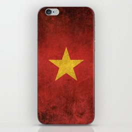 Old and Worn Distressed Vintage Flag of Vietnam iPhone Skin