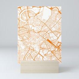 Street MAP Rome // Orange Mini Art Print