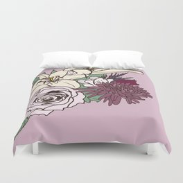 Flowers From The Universe Duvet Cover