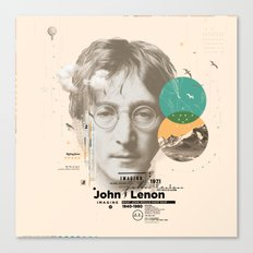 john lenon-imagine Canvas Print